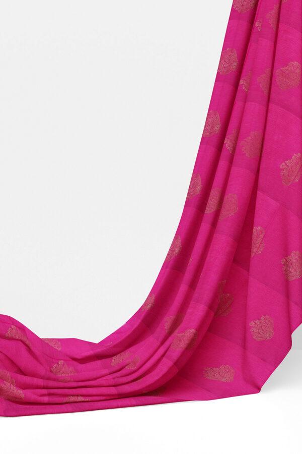 sri kumaran stores semi silk cotton saree pink saree with pink border 3