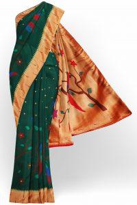 sri_kumaran_stores_banaras_silk_saree_dark_green_saree_with_golden_red_border-1.jpg