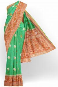 sri_kumaran_stores_banaras_silk_saree_light_green_saree_with_golden_red_border-1.jpg