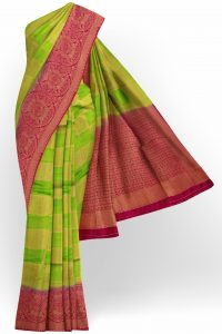 sri_kumaran_stores_banaras_silk_saree_parrot_green_checked_saree_with_red_border-1.jpg