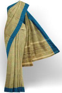sri kumaran stores chettinad cotton light green saree with blue border 1