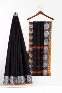 sri_kumaran_stores_cotton_saree_black_saree_with_orange_silver_border-2.jpg