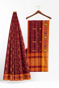 sri_kumaran_stores_cotton_saree_brown_saree_with_orange_border-2.jpg