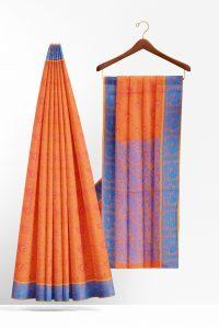 sri_kumaran_stores_cotton_saree_orange_saree_with_blue_border_1-2.jpg