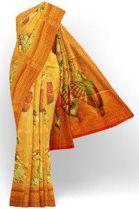 sri kumaran stores jakarta saree yellow saree with red border 1