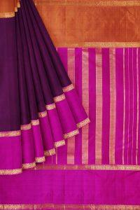 sri kumaran stores kanchipuram silk saree maroon saree with golden pink border 1