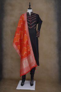 sri_kumaran_stores_kurti_black_top_with_black_bottom_and_red_shawl-1.jpg