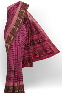 sri kumaran stores semi silk cotton printed purple saree with design border 1