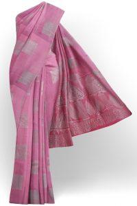 sri kumaran stores semi silk cotton saree baby pink saree with baby pink border 1