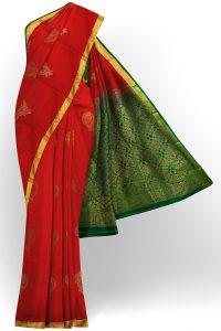 sri kumaran stores semi silk cotton saree red saree with golden border 1