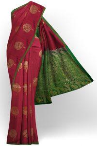 sri kumaran stores semi silk cotton saree red saree with green border 1