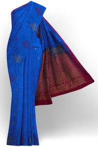 sri kumaran stores soft silk blue saree with blue border 1
