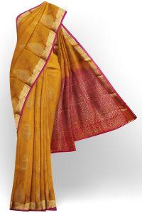 sri kumaran stores soft silk golden yellow saree with golden border 1