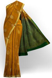 sri kumaran stores soft silk light orange saree with golden border 1