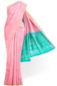 sri kumaran stores soft silk saree baby pink saree with golden border 1