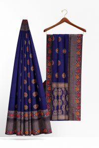 sri_kumaran_stores_synthetic_saree_dark_blue_saree_with_red_orange_floral_border-2.jpg