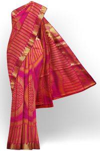 sri kumaran stores tussar silk golden pink saree with golden colour border 1